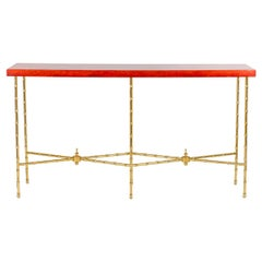 Bernard Dunand, Console in Lacquer and Gilt Bronze, 1950s