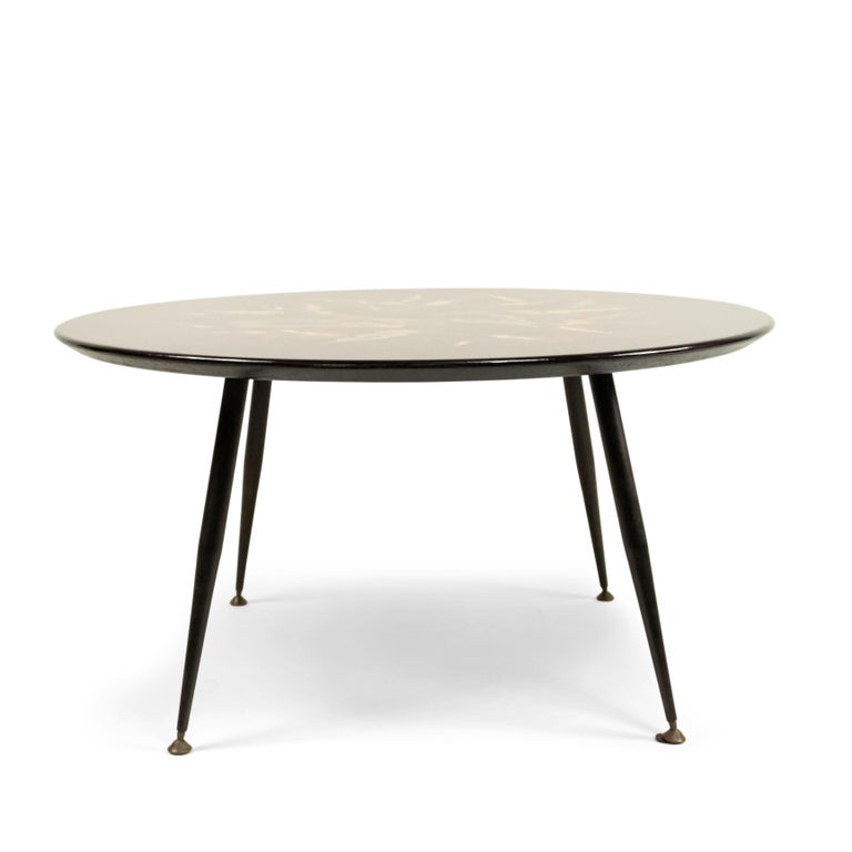 Mid-Century Modern Bernard Dunand French Midcentury Geometric Lacquered Coffee Table For Sale