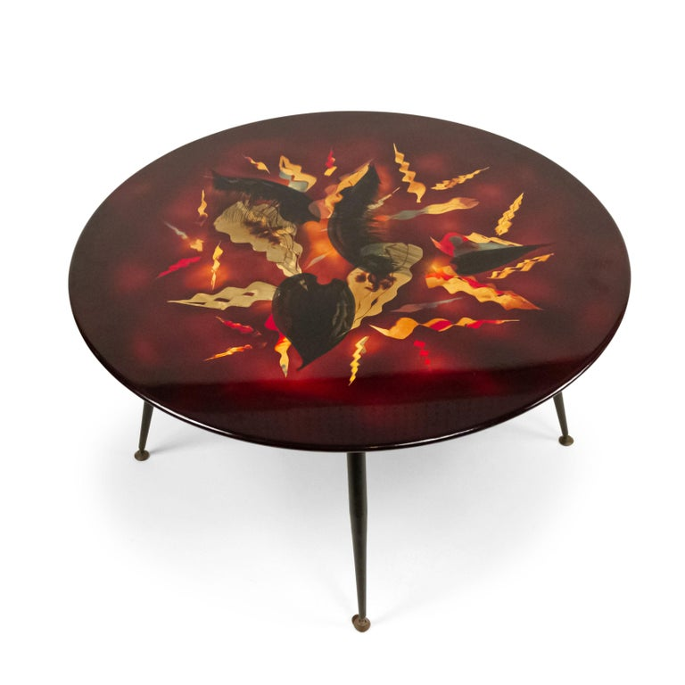 Bernard Dunand French Midcentury Geometric Lacquered Coffee Table In Good Condition For Sale In New York, NY