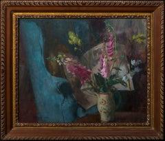 Interior Still Life With Flowers