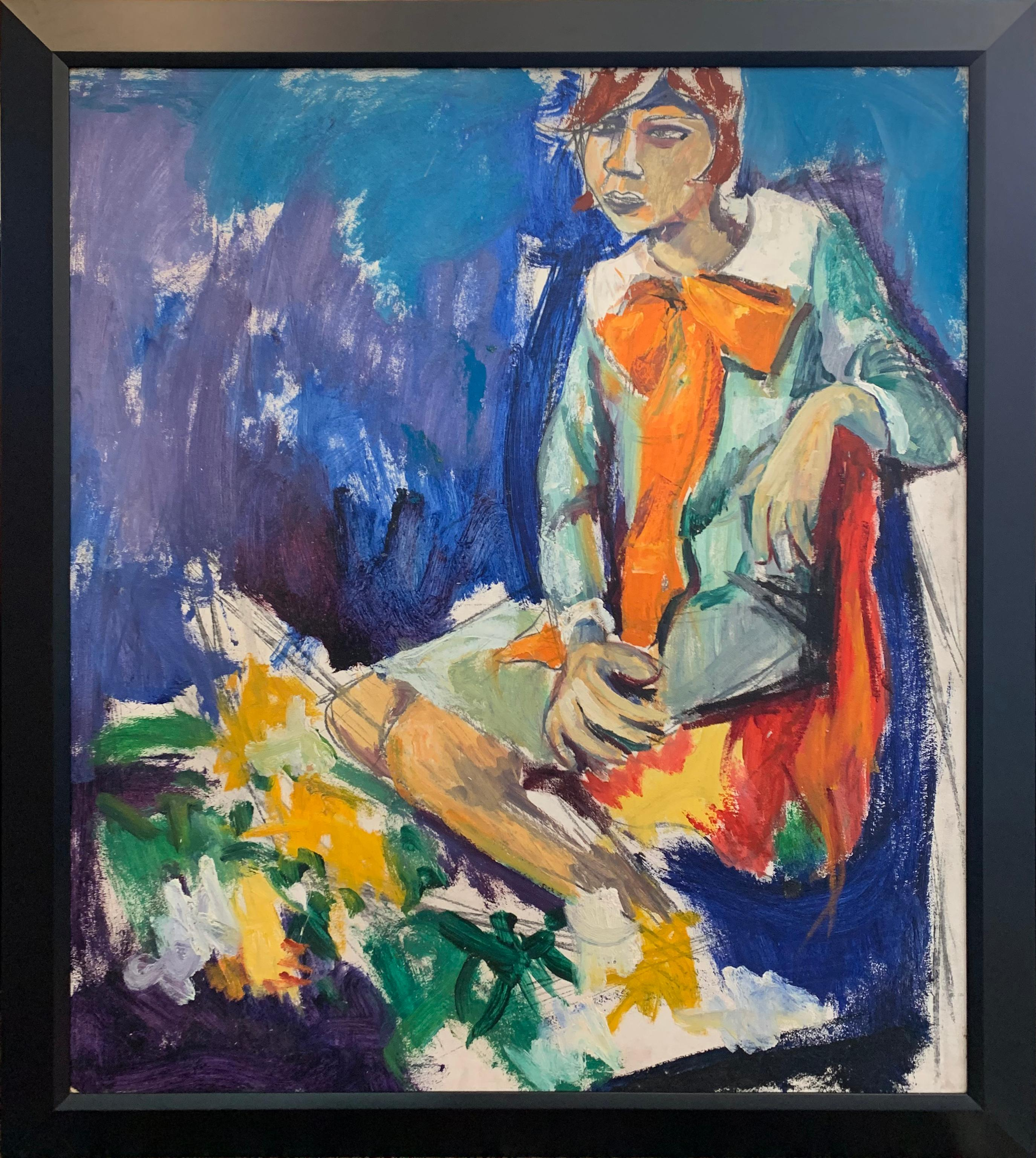 Fashion Girl, Color Portrait of a Woman, African American Artist, Double Sided