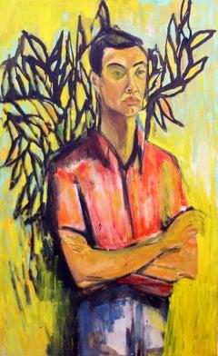 Self Portrait, Expressionist, Figurative, African American Art