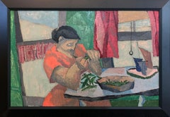 Snap Peas, Interior Environmental Portrait of Young Woman, African American Art