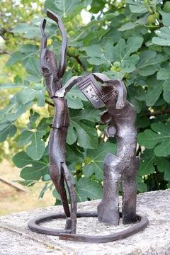 corrida, unique piece in wrought iron
