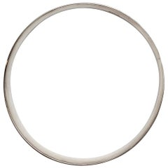 Bernard Hertz Denmark Sterling Silver Concave Bangle Bracelet