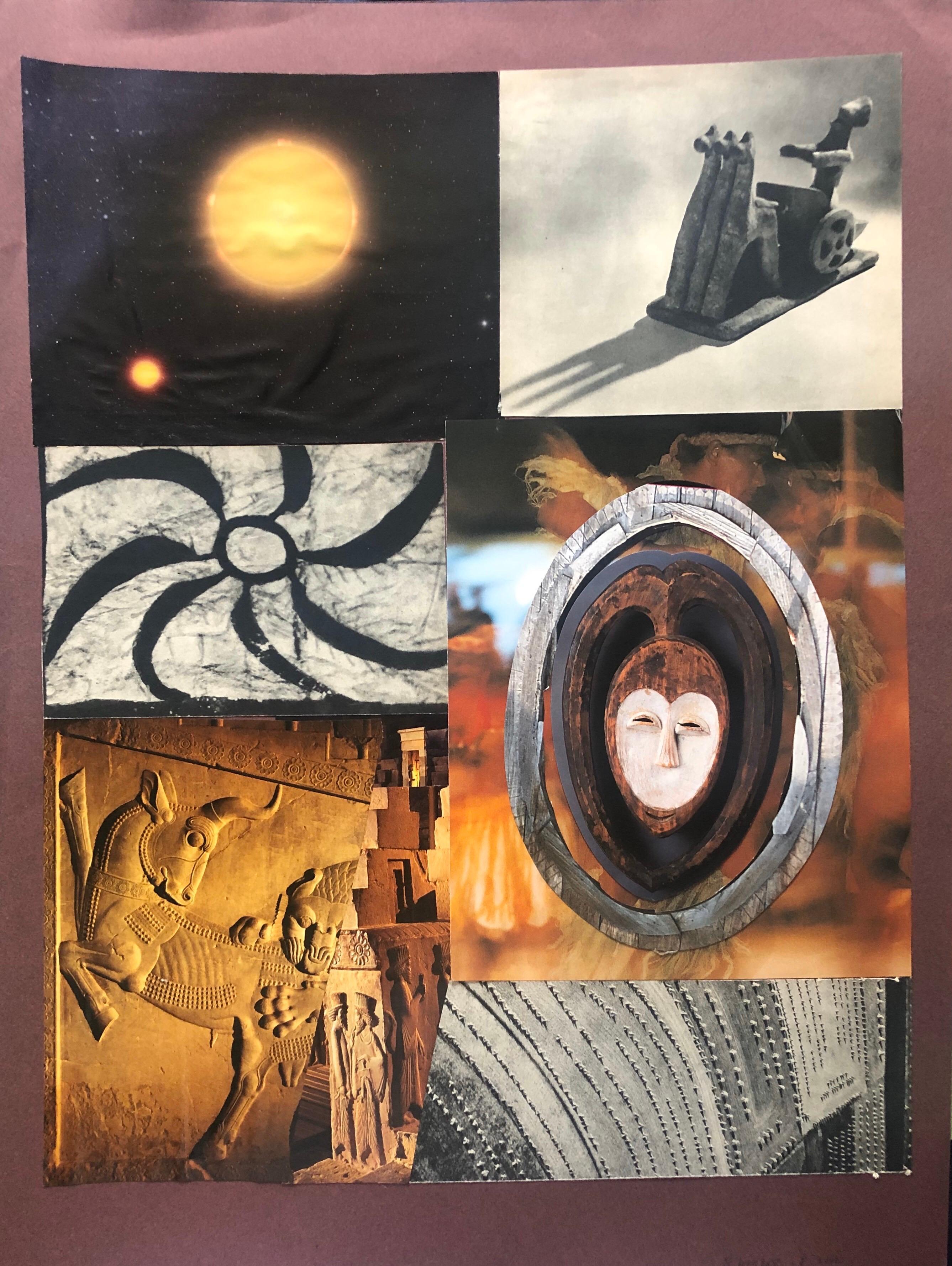 20th Paris School Collage Cutout Artwork Wonderful Interior Design options!