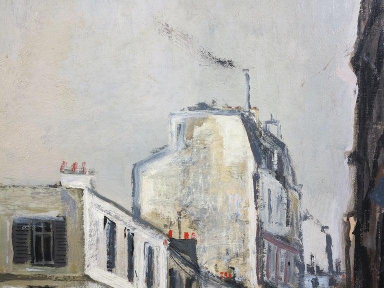 Bernard Lamotte (1903-1983). Rue Sous la Pluie a Paris (Restaurant Au Bon Coin), c.1950. Oil on wood panel measures 19.5 x 25.5 inches; 30 x 37 inches framed. Signed lower right. Title inscribed en verso. Original Dalzell Hrtfield gallery label
