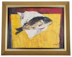 La Carpe, Fish on Table Still Life