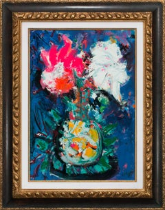 """Vase Fleuri"" Framed Original Still Life Painting by Bernard Lorjou"