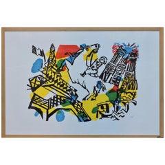 """Bernard Lorjou, """" Paris """" Framed Lithograph"""