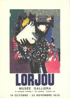 """Bernard Lorjou-Le Concept-30"""" x 21""""-Lithograph-1970-Abstract-Abstract, events"""