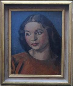 Portrait of a Woman - Modern British 30's Bloomsbury Slade School oil painting