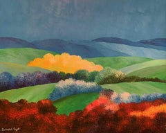 """""""Rhapsody in red yellow and green"""" oil on canvas by Payet"""