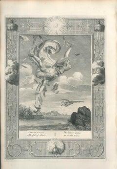 La Chute d'Icare - Original Etching by by B. Picart - 1742
