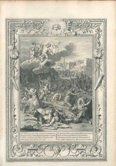 Les Enfants de Niobé - Etching by B. Picart - 1742
