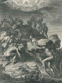 Les Géans - Original Etching by B. Picart - 1742