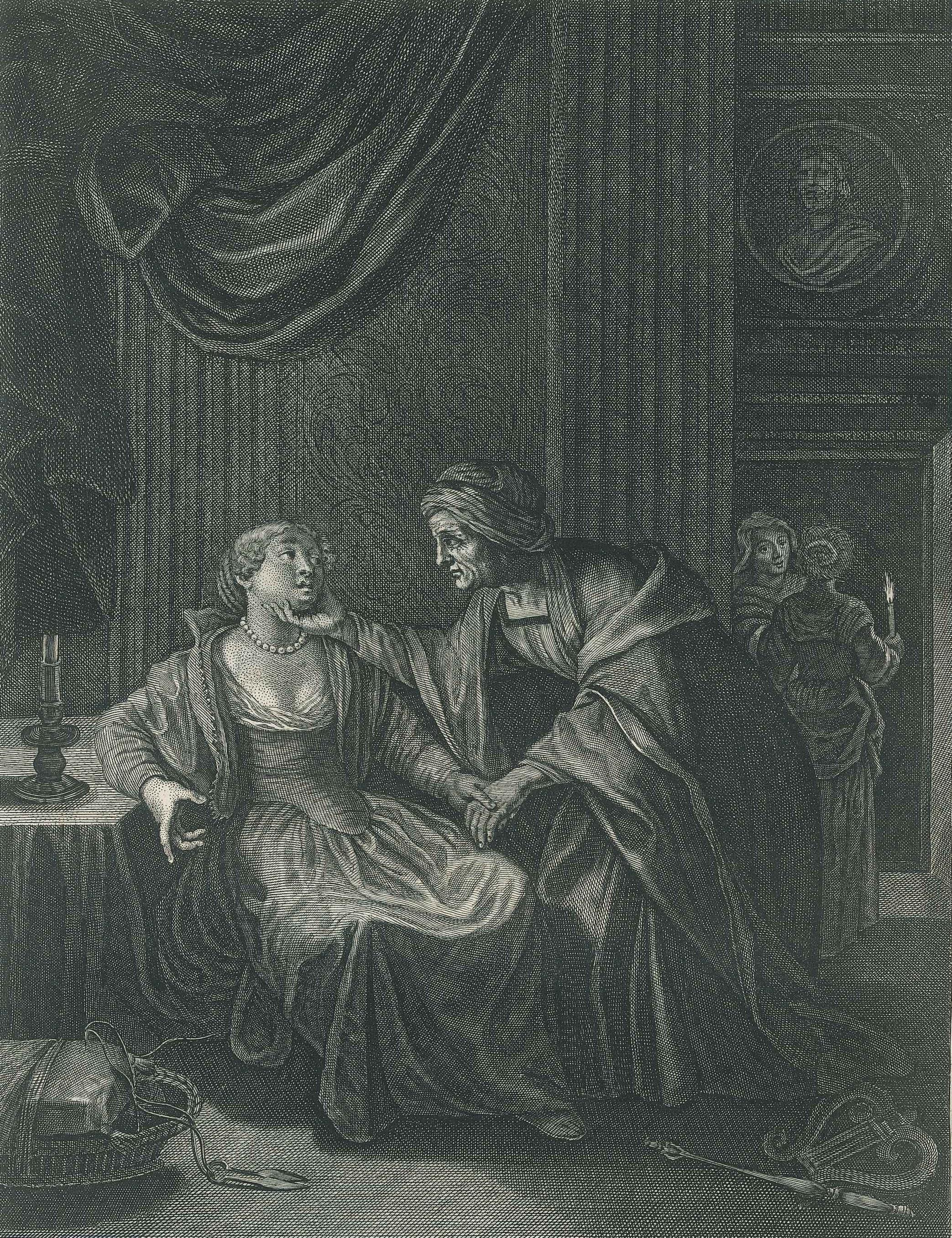 """Leucothoé et Apollon, from """"Le Temple des Muses"""""""
