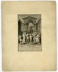 Scene from 'Cleopatre' by Calprenede by Bernard Picart - Etching - 18th Century