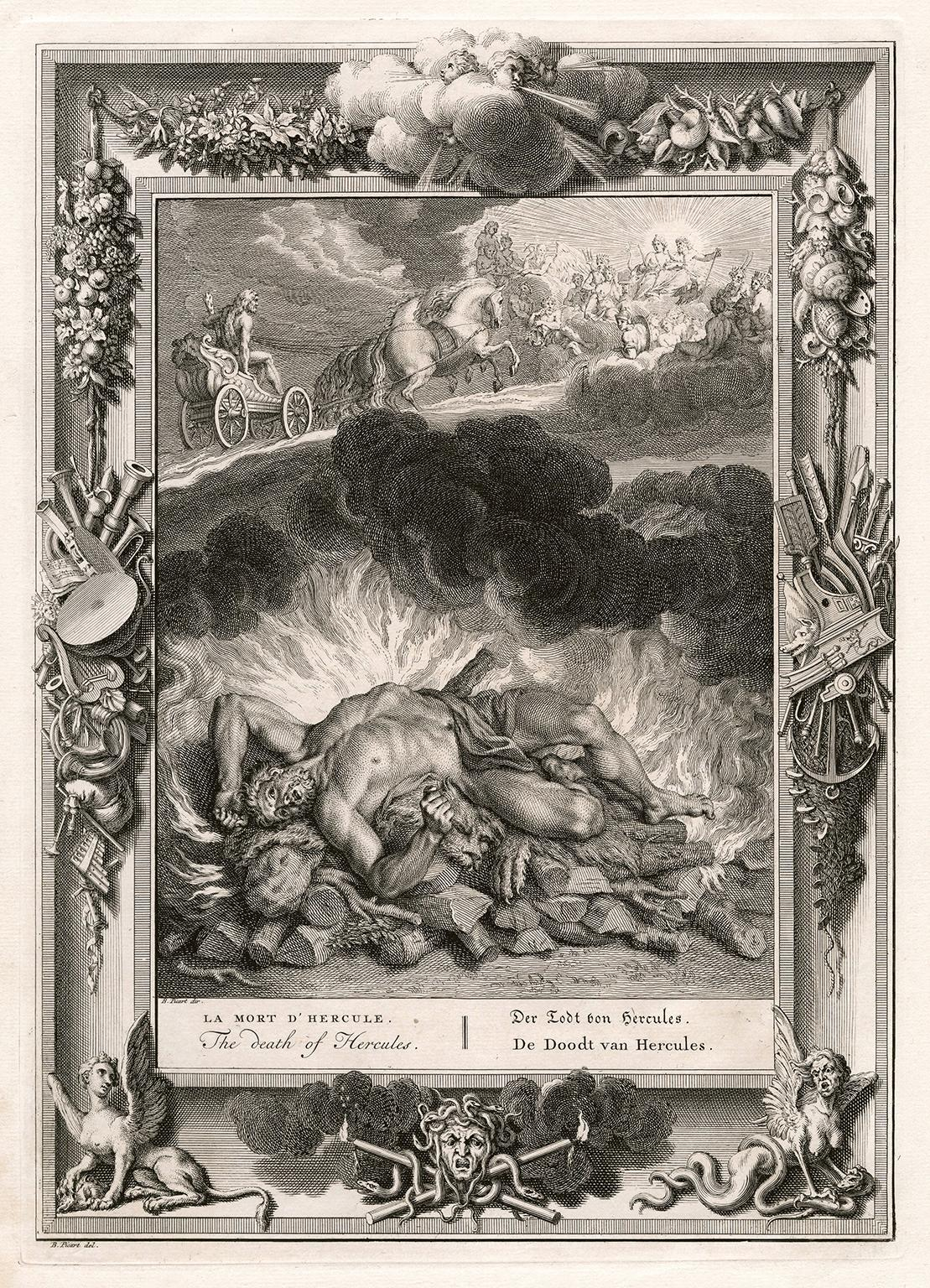 'The Death of Hercules' from 'The Temple of the Muses'