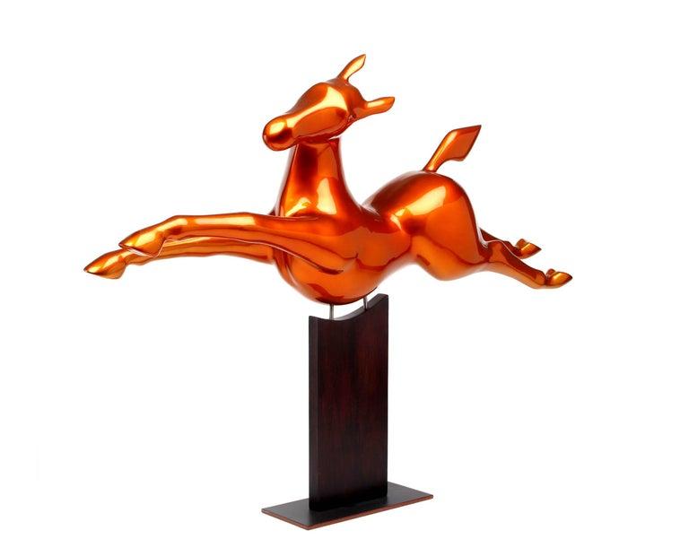 Jolly Jumper   Limited Edition 8 copie resin esculpture - Sculpture by Bernard Rives