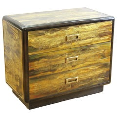Bernard Rohne for Mastercraft Mid-Century Modern Acid Etched Chest