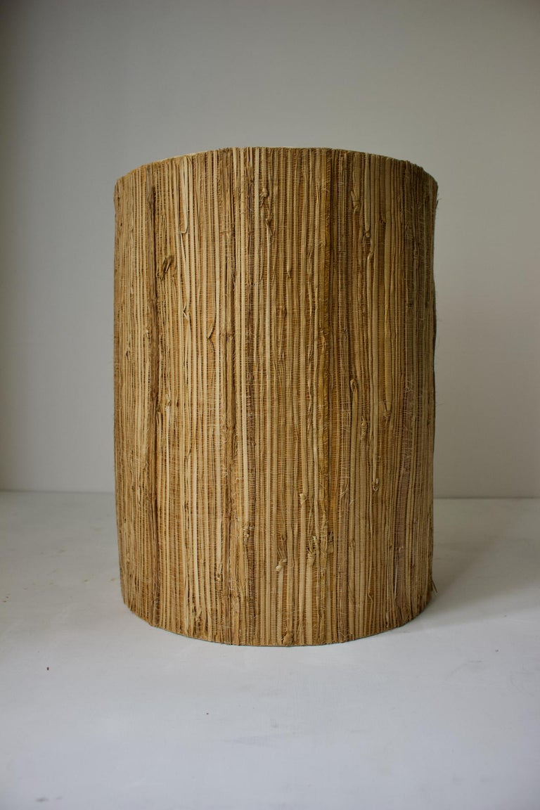 Bernard Rooke Studio Ceramic TOTEM Lamp with Original Shade, England, 1960s 1