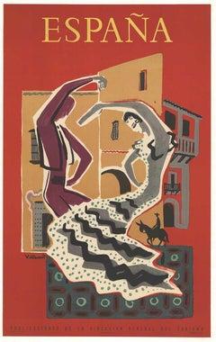 "Original Espana ""Spain"" vintage Villemot travel poster"