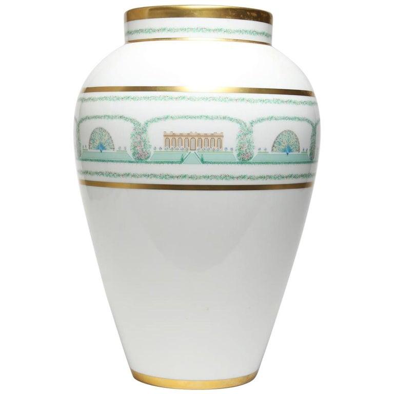 """Bernardaud French Limoges Porcelain """"Folie De Bagatelle"""" Vase For Sale"""