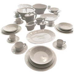 "Bernardaud Limoges Dinnerware Set ""Naxos"" for 12 People"