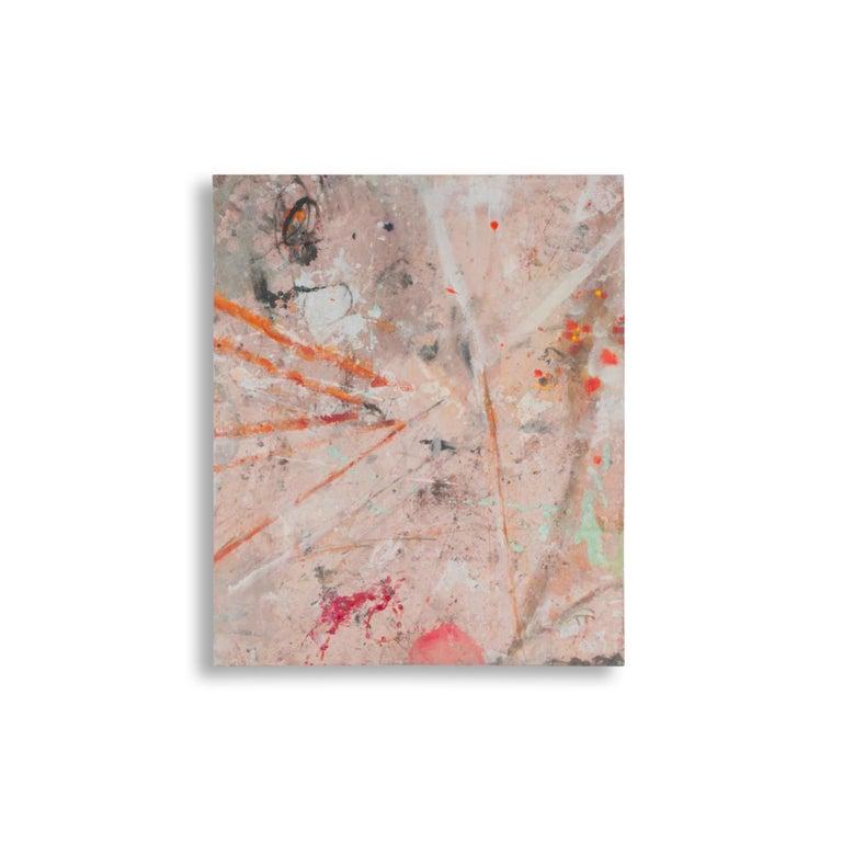 1194 MY SECRET WORK  - Gray Abstract Painting by Bernd Haussmann