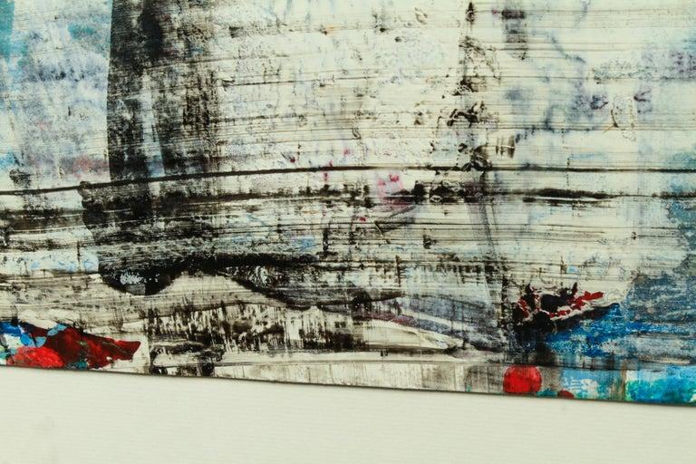 Modern Bernd Haussmann German Abstract Mixed-Media On Paper