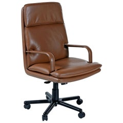 Bernd Munzebrock for Geiger-Brickel Bristol Leather Attaché Chair