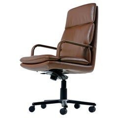 Bernd Munzebrock for Geiger-Brickel Bristol Leather Attaché Chair