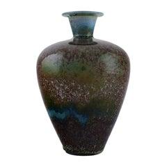 Berndt Friberg '1899-1981' for Gustavsberg Studiohand, Vase in Gazed Stoneware
