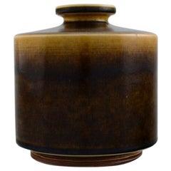 Berndt Friberg for Gustavsberg Studio Hand, Modernist Cylindrical Ceramic Vase