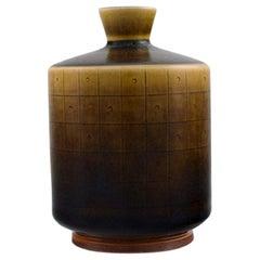 Berndt Friberg for Gustavsberg Studio Hand, Modernist Glazed Ceramic Vase, 1962