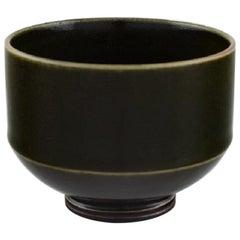 Berndt Friberg for Gustavsberg Studio Hand, Modernist Vase in Glazed Ceramics