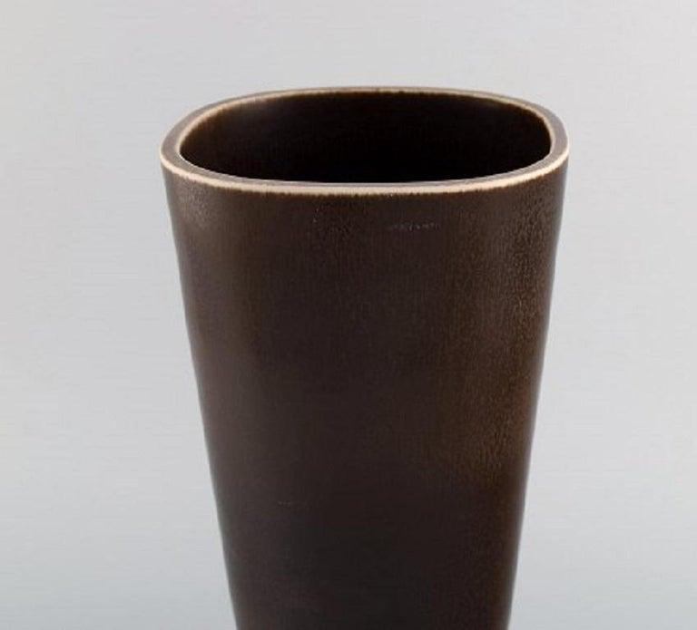 Swedish Berndt Friberg for Gustavsberg Studiohand, Large Vase in Glazed Stoneware For Sale