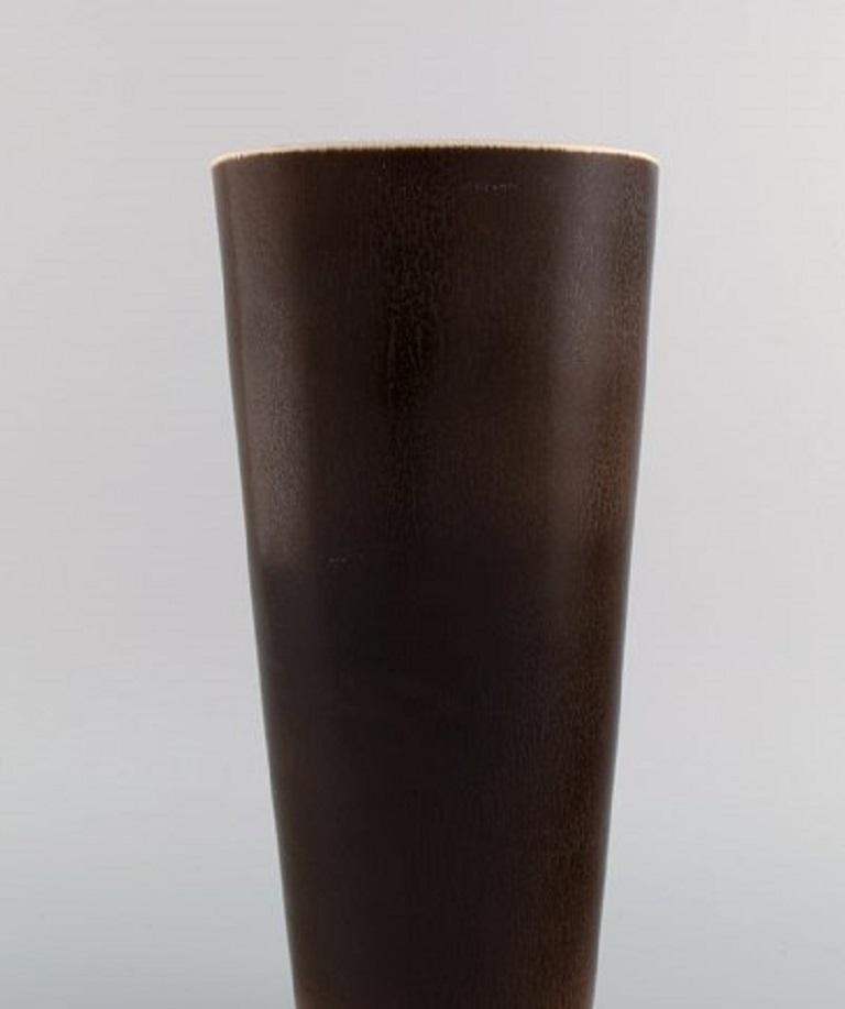 Berndt Friberg for Gustavsberg Studiohand, Large Vase in Glazed Stoneware In Excellent Condition For Sale In Copenhagen, Denmark