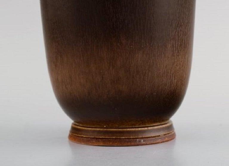Berndt Friberg for Gustavsberg Studiohand, Large Vase in Glazed Stoneware For Sale 1