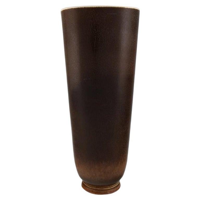 Berndt Friberg for Gustavsberg Studiohand, Large Vase in Glazed Stoneware For Sale