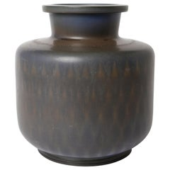 Berndt Friberg Unique Stoneware Vase for Gustavsberg, 1962