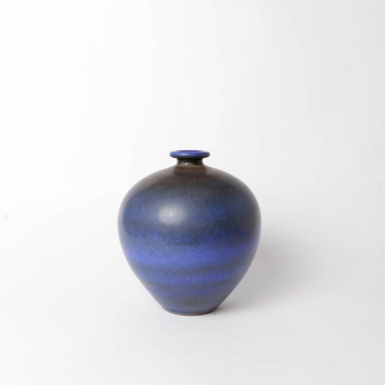 Swedish Berndt Friberg Unique Stoneware Vase for Gustavsberg, 1966 For Sale