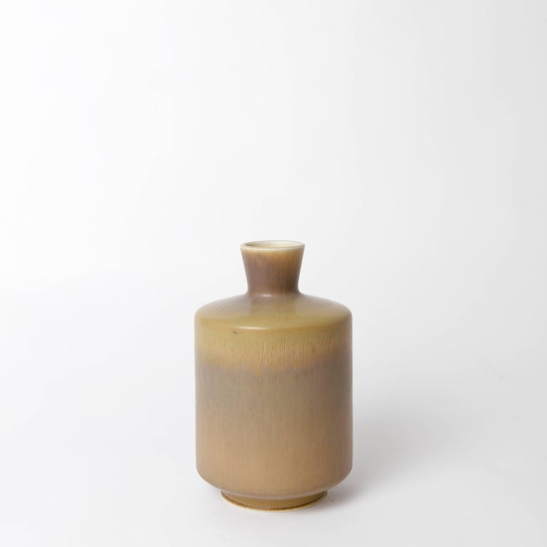 Swedish Berndt Friberg Unique Stoneware Vase for Gustavsberg, 1966 For Sale