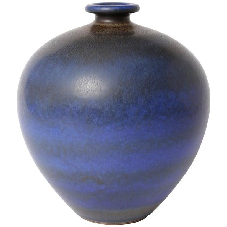 Berndt Friberg Unique Stoneware Vase for Gustavsberg, 1966 For Sale