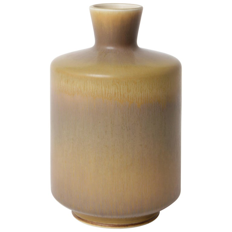 Berndt Friberg Unique Stoneware Vase for Gustavsberg, 1966 For Sale