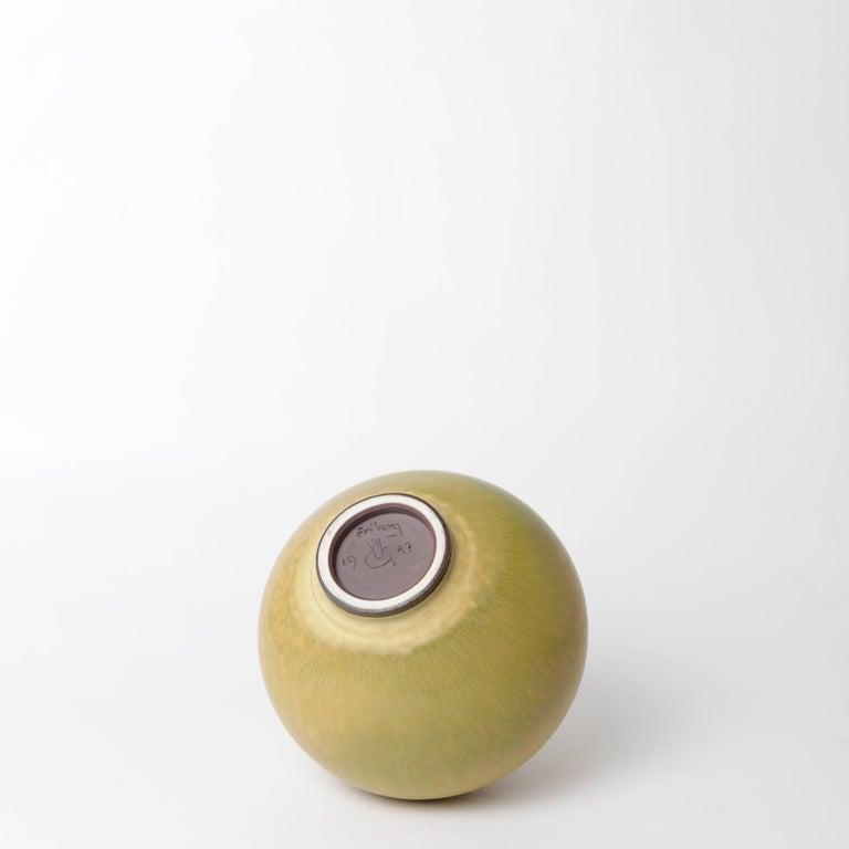 Berndt Friberg Unique Stoneware Vase for Gustavsberg, 1977 For Sale 2