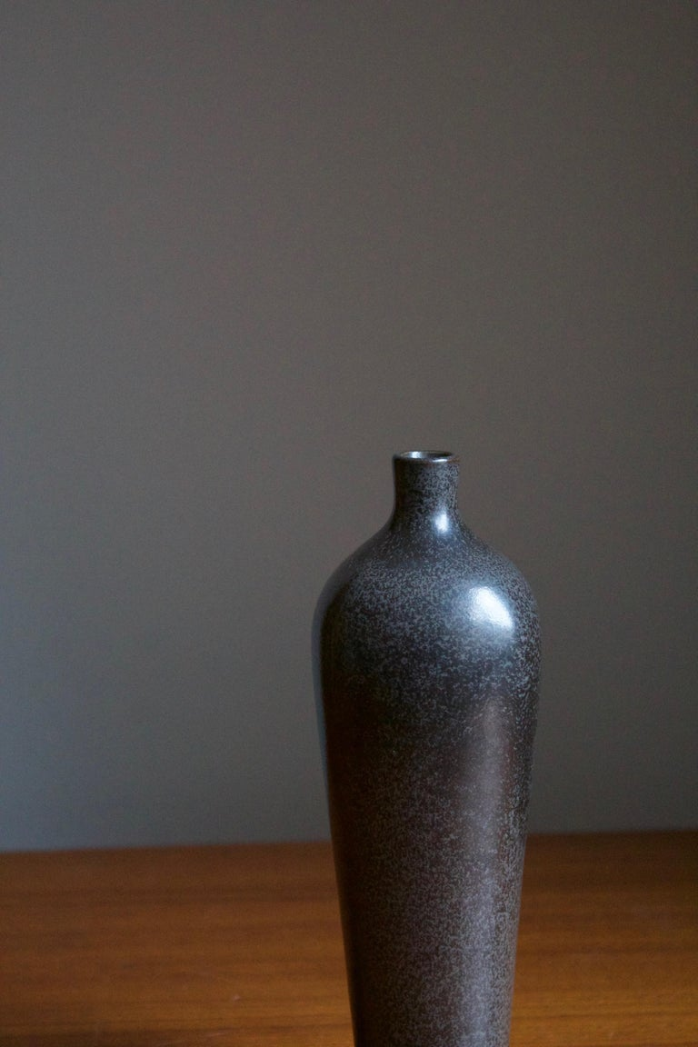 Swedish Berndt Friberg, Vase, Glazed Stoneware, Gustavsberg, 1960s For Sale