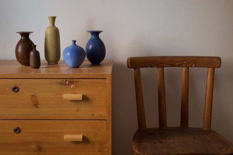 Mid-Century Modern Berndt Friberg, Vases, Glazed Stoneware, Gustavsberg, 1960s For Sale
