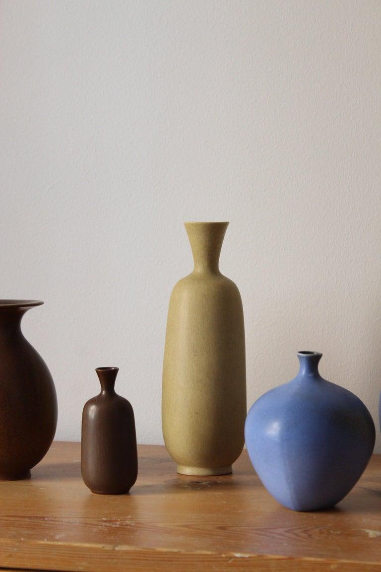 Berndt Friberg, Vases, Glazed Stoneware, Gustavsberg, 1960s In Good Condition For Sale In West Palm Beach, FL